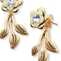 Ladies Lonna And Lilly Gold Plated Flower Earrings 60451921-2GR