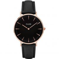 Damen Cluse La Boheme Leder Uhr