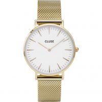 Damen Cluse La Boheme Maschen Uhr