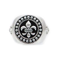 homme Icon Brand Jewellery Rebel Heritage Lys Sovereign Ring Size Large Watch RH016-R-SIL-LGE