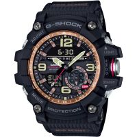 Hommes Casio G-Shock Mudmaster Maître Of G Vintage Noir And Alarme Chronographe Montre