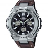 homme Casio G-Steel Street Vintage Style Alarm Chronograph Radio Controlled Tough Solar Watch GST-W130L-1AER