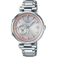 Damen Casio Sheen Zeit Ring Bluetooth hybrid Smartwatch Wecker Uhren