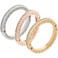 Ladies Michael Kors Multi colour gold Size L.5 Iconic Ring