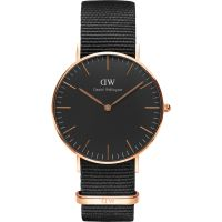 Zegarek uniwersalny Daniel Wellington Classic Black Cornwall Watch 36mm DW00100150