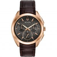 homme Bulova Progressive Dress CURV Chronograph Watch 97A124