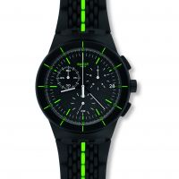 homme Swatch Laser Track Chronograph Watch SUSB409
