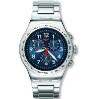 Herren Swatch Blue Maximus Chronograph Watch YOS455G