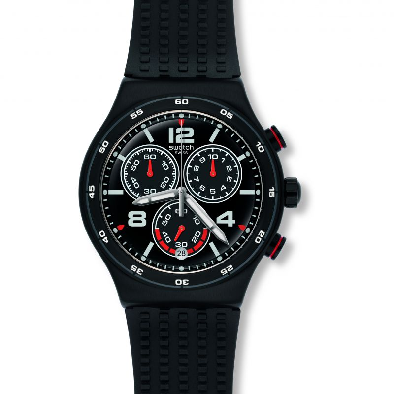 Herren Swatch Destination Shanghai Chronograph Watch YVB404