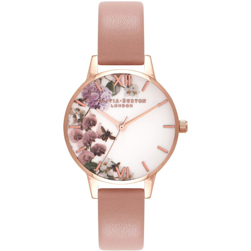 Damen Olivia Burton Enchanted Garden Floral Watch OB16EG56
