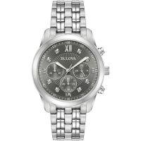 Hommes Bulova Habillé Chronographe Diamant Montre