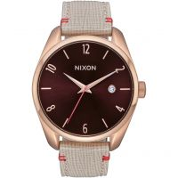 Nixon The Bullet Leather Damklocka Naturvit A473-1890
