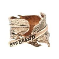 Mens Icon Brand Gold Plated Momento Ring Size Large