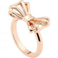 Damen Ted Baker Rose vergoldet Sweetie Schleife Ring Größe ML