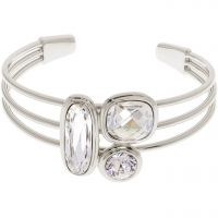 Ladies Karen Millen Silver Plated Milano Stone Cluster Bangle KMJ960-01-265