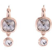 Ladies Karen Millen Rose Gold Plated Milano Stone Double Earrings KMJ963-24-38