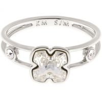 Karen Millen Jewellery Art Glass Flower Ring Size SM JEWEL