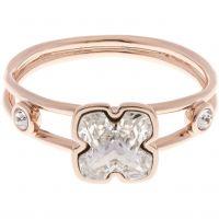 Karen Millen Jewellery Art Glass Flower Ring Size ML JEWEL