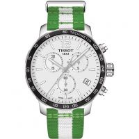 Herren Tissot Quickster NBA Boston Celtics Special Edition Chronograf Uhren