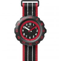 Childrens Flik Flak Black Style Watch