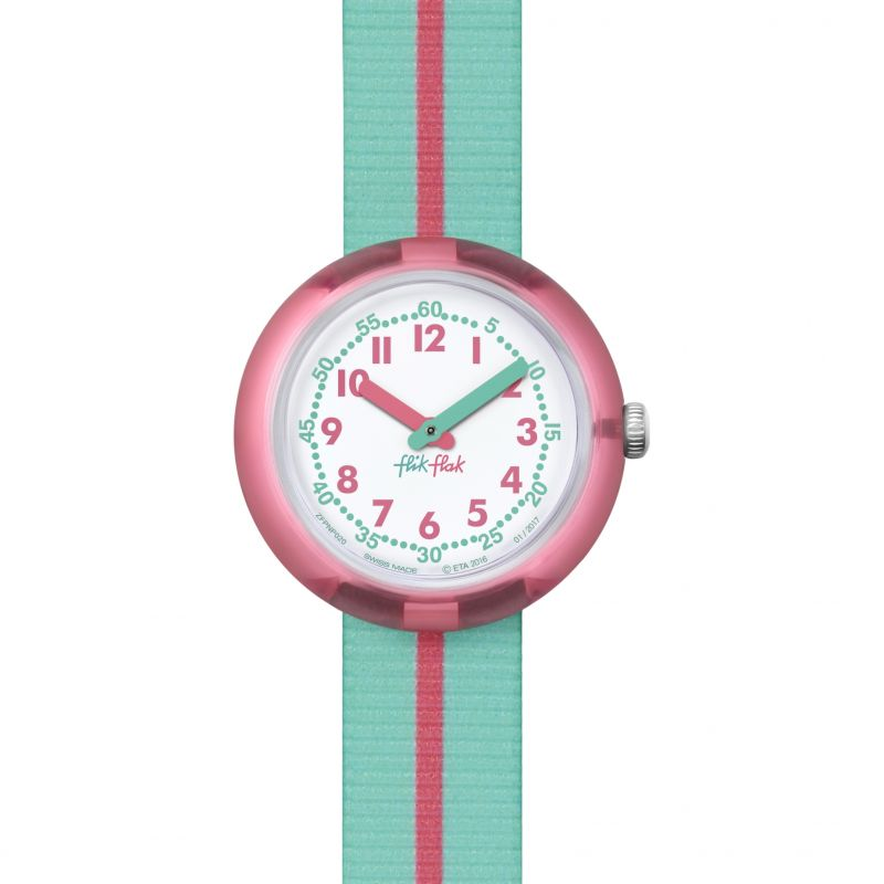Kinder Flik Flak Pink Band Watch FPNP020