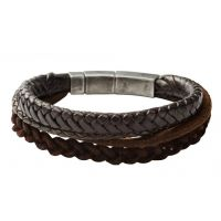 Fossil Jewellery & Leather Bracelet JEWEL
