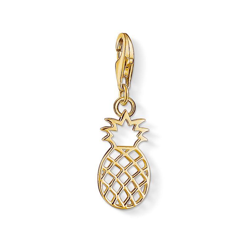 Ladies Thomas Sabo PVD Gold plated Charm Club Pineapple Charm 1439-413-39