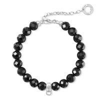 Thomas Sabo Jewellery Charm Club Obsidian Bracelet JEWEL