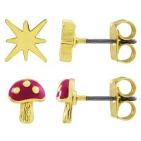 Ladies Juicy Couture Gold Plated Magic Mushrooms Luxe Wishes Earring Set WJW86754-712