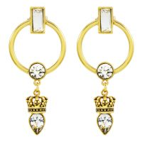 Ladies Juicy Couture PVD Gold plated Celestial Sparkle Luxe Wishes Earrings