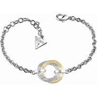 Damen Guess zweifarbig Stahl/vergoldet E-Motions Armband