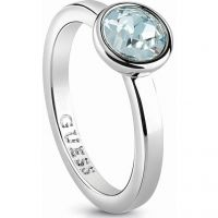 Ladies Guess Rhodium Plated Miami Ring UBR83030-54