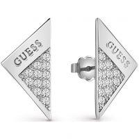 Damen Guess Rhodium Plated Revers Ohrringe
