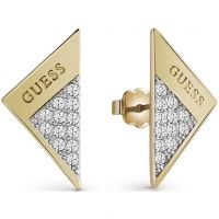 Ladies Guess Gold Plated Revers Earrings