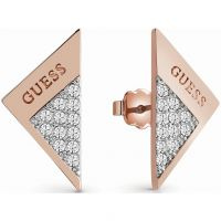 Damen Guess Rose vergoldet Revers Ohrringe