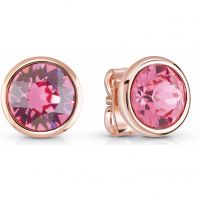Ladies Guess Rose Gold Plated Miami Earrings