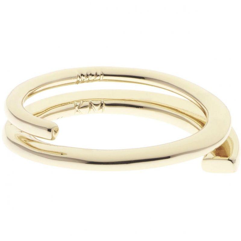 Ladies Karen Millen Gold Plated Axial Sculpture Ring Size SM KMJ970-30-02SM