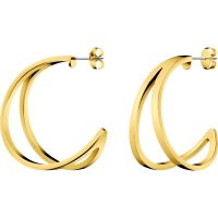 Ladies Calvin Klein Gold Plated Outline Earrings