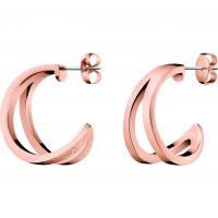 Ladies Calvin Klein Rose Gold Plated Outline Earrings KJ6VPE100100