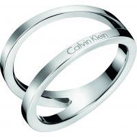 Damen Calvin Klein Edelstahl Outline Ring Größe L.5