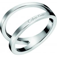 Ladies Calvin Klein Stainless Steel Size P Outline Ring