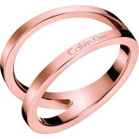 Ladies Calvin Klein Rose Gold Plated Size L Outline Ring