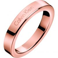Ladies Calvin Klein Rose Gold Plated Size P Hook Ring
