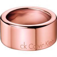Damen Calvin Klein Rose vergoldet Hook Ring Größe P
