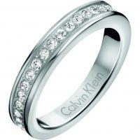 Damen Calvin Klein Edelstahl Hook Ring Größe O