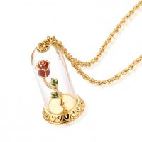 femme Disney Couture Beauty & the Beast Enchanted Rose in Glass Watch DYN333