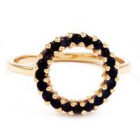 Ladies Lola Rose Sterling Silver Iolite Mini Circle Ring R0048-30800