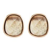 Ladies Lola Rose Rose Gold Plated Bassa Grey Moonstone Mini Facet Earrings 606486