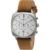 Unisex Briston Clubmaster Vintage Steel Chronograph Watch 16140.S.V.2.LFCA