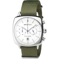 unisexe Briston Clubmaster Vintage Steel Chronograph Watch 17140.PS.V.2.NGA